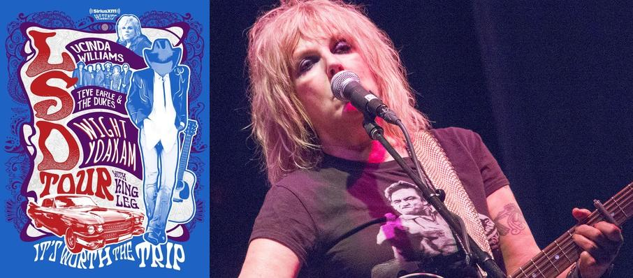 Lucinda Williams with Steve Earle and Dwight Yoakam at PNC Pavilion